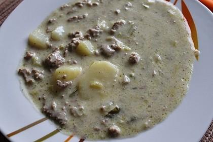 Hackfleisch-Lauch-Suppe 62