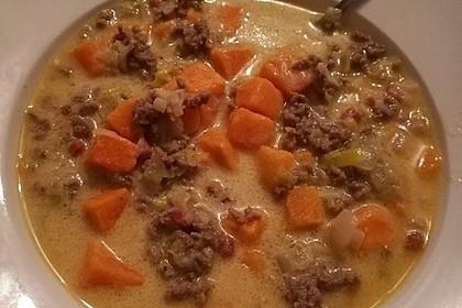Hackfleisch-Lauch-Suppe 49