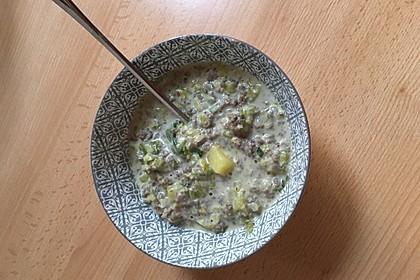 Hackfleisch-Lauch-Suppe 40