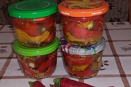 Süßsauer eingelegte Pfefferoni oder Peperoni 11