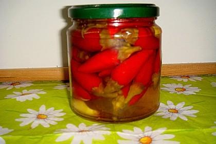 Süßsauer eingelegte Pfefferoni oder Peperoni 4