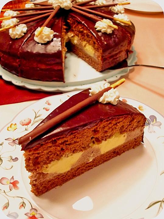 Vanille Schoko Torte Von Mo23 Chefkoch De