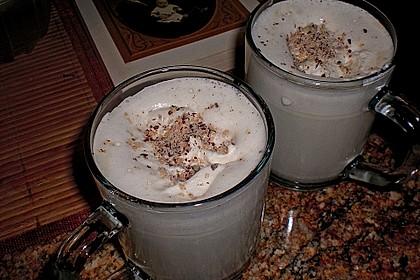Heiße Safranmilch