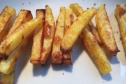 Selbst gemachte Pommes aus dem Backofen 3