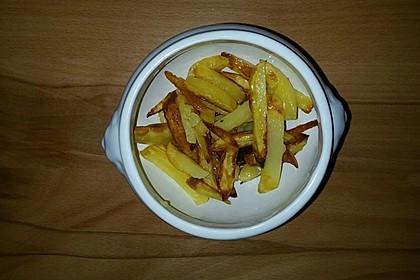 Selbst gemachte Pommes aus dem Backofen 10