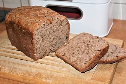 Walnussbrot für den Brotbackautomaten (Bild)