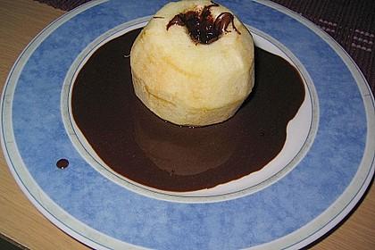 Bratäpfel mit Schokosoße und Mandeln 2