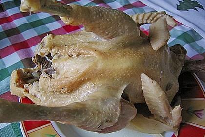 Nudeleintopf mit Hühnerbrühe und Fleisch 2