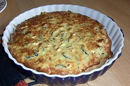 Schafskäse - Zucchini - Quiche (Bild)