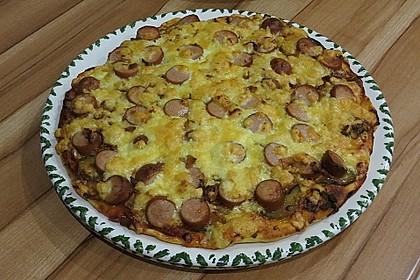 Hot Dog Pizza - Cheesy
