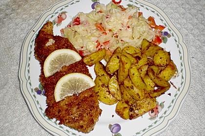 Knusperschnitzel mit Krautsalat