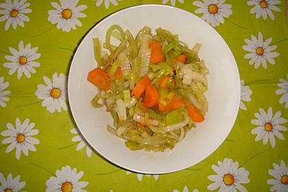 Karotten - Lauch - Pfanne
