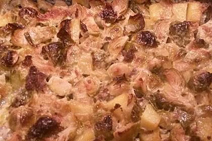 Rosenkohlauflauf mit Hackfleisch und Kartoffeln 24