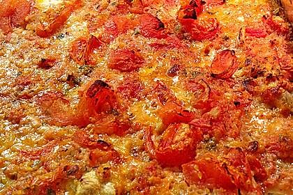 Alaska-Seelachsfilet überbacken, mit Tomaten und Mozzarella 1