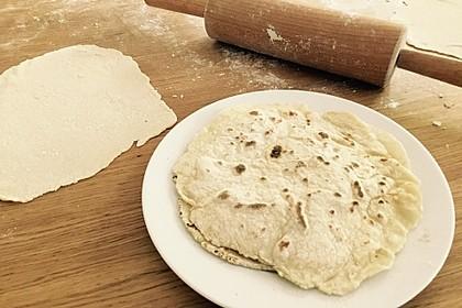 Tortillas aus Weizenmehl (Bild)