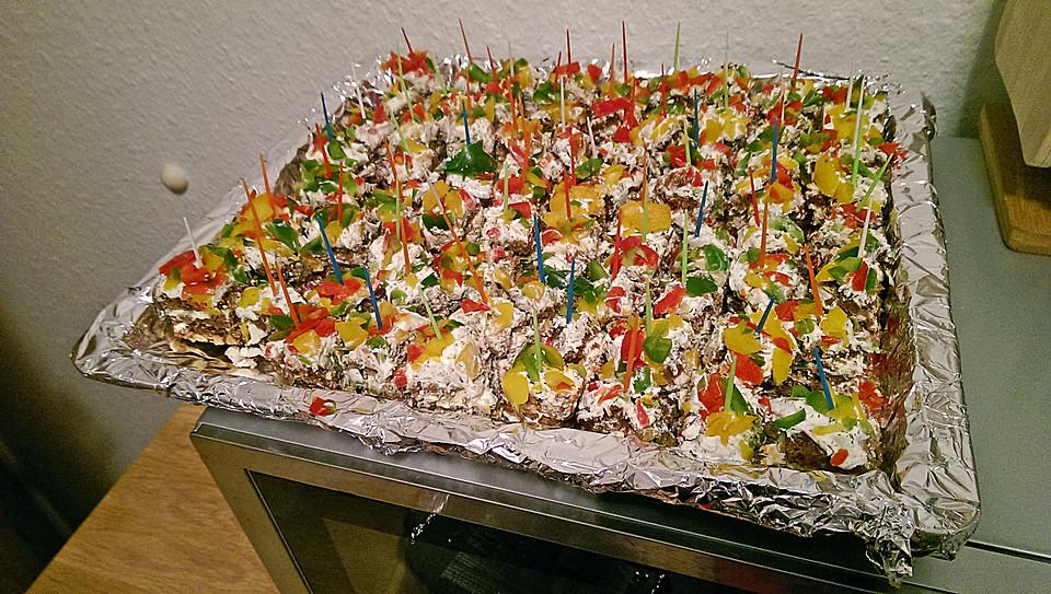 Schwarzbrot Frischkase Torte Von Kathawillwas Chefkoch De