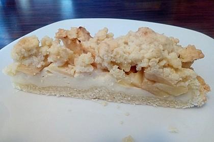 Apfel - Streuselkuchen mit Vanillepudding 13