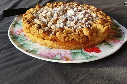Apfel - Streuselkuchen mit Vanillepudding 5