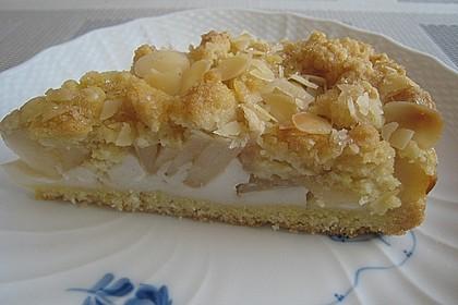 Apfel - Streuselkuchen mit Vanillepudding 6
