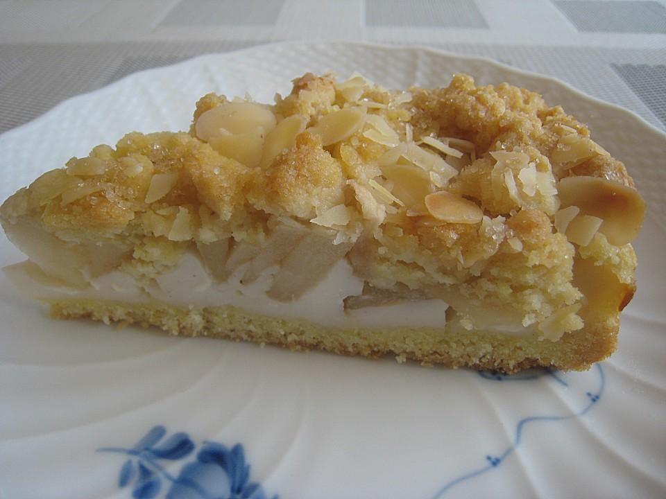 Apfel Streuselkuchen Mit Vanillepudding Von Schrat Chefkoch De