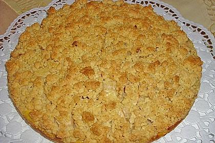 Apfel - Streuselkuchen mit Vanillepudding 9