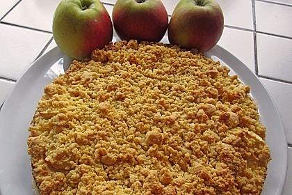 Apfel - Streuselkuchen mit Vanillepudding 10