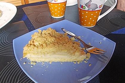 Apfel - Streuselkuchen mit Vanillepudding 8