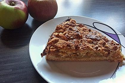 Apfel - Streuselkuchen mit Vanillepudding 3