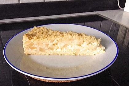 Apfel - Streuselkuchen mit Vanillepudding 7