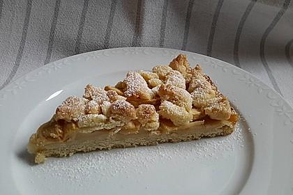 Apfel - Streuselkuchen mit Vanillepudding 1