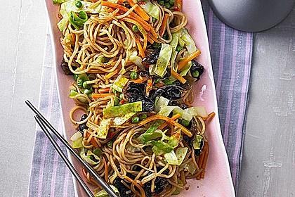 Rezeptbild zum Rezept Gebratene Nudeln mit Gemüse, asiatisch