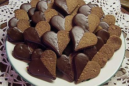 Nusskekse mit Kakao