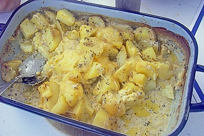 Überbackene Kräuter - Kartoffeln 4