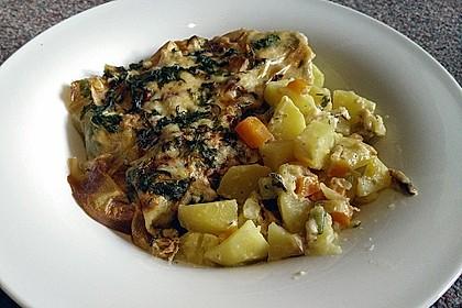 Überbackene Kräuter - Kartoffeln 1