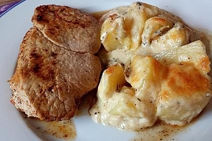 Überbackene Kräuter - Kartoffeln