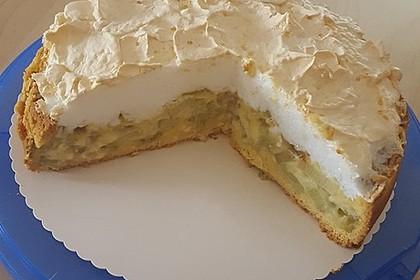 Rhabarberkuchen mit Vanillepudding und Baiser 4