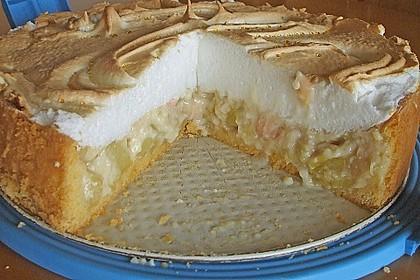 Rhabarberkuchen mit Vanillepudding und Baiser 5