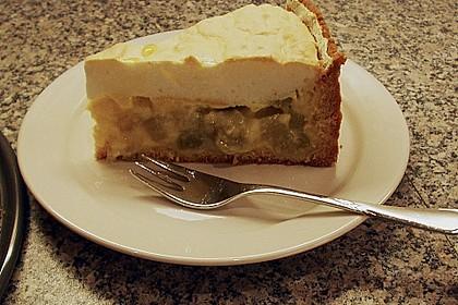 Rhabarberkuchen mit Vanillepudding und Baiser 9