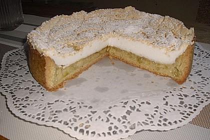 Rhabarberkuchen mit Vanillepudding und Baiser 26