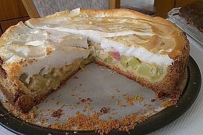 Rhabarberkuchen mit Vanillepudding und Baiser 21