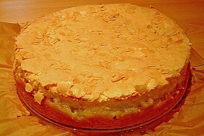 Rhabarberkuchen mit Vanillepudding und Baiser 29