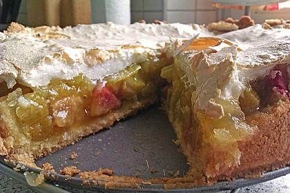 Rhabarberkuchen mit Vanillepudding und Baiser 12