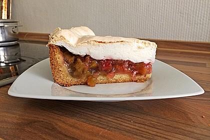 Rhabarberkuchen mit Vanillepudding und Baiser 8