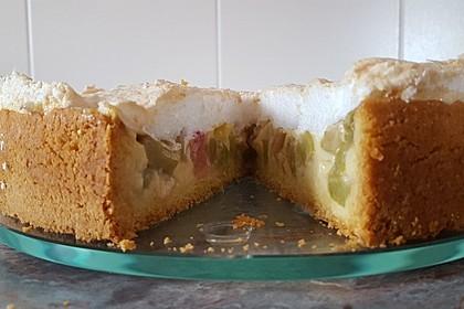 Rhabarberkuchen mit Vanillepudding und Baiser 3