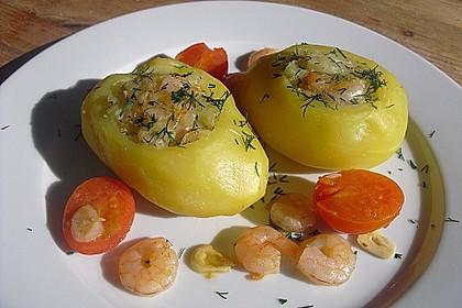 Gefüllte Kartoffeln, maritim mit Krabben 2