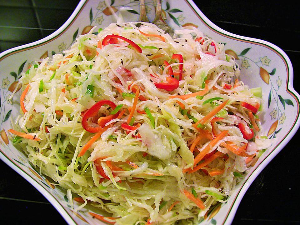 Weißkohl Partysalat Ein Leckeres Rezept Chefkoch