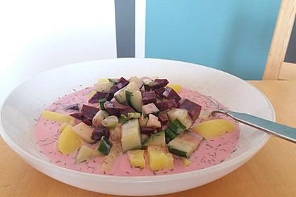 Litauische kalte Rote-Bete-Suppe 2