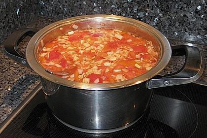 Klare Tomatensuppe mit Petersilienklößchen 18