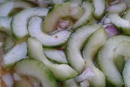 Asiatischer Gurkensalat 7