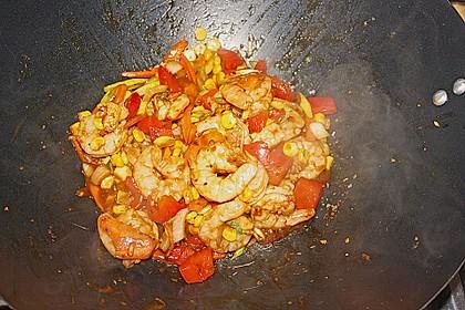 BBQ Garnelen in Honig - Senf - Sauce 12